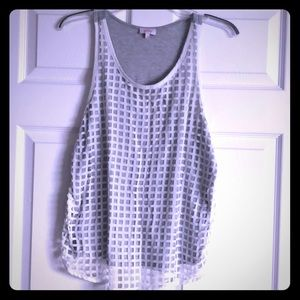 Pixley mixed material tank top!